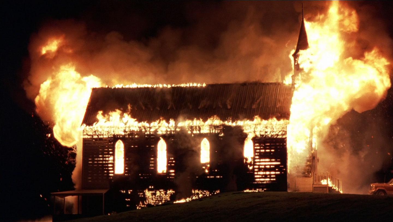Burning Church in Fire Down Below