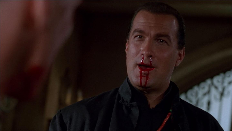 Steven Seagal bleeding in The Glimmer Man