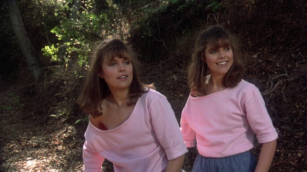 Camilla More and Carey More as the twins in Friday the 13th: The Final Chapter