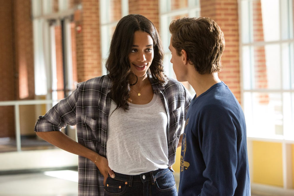 Laura Harrier and Tom Holland in Spider-Man: Homecoming