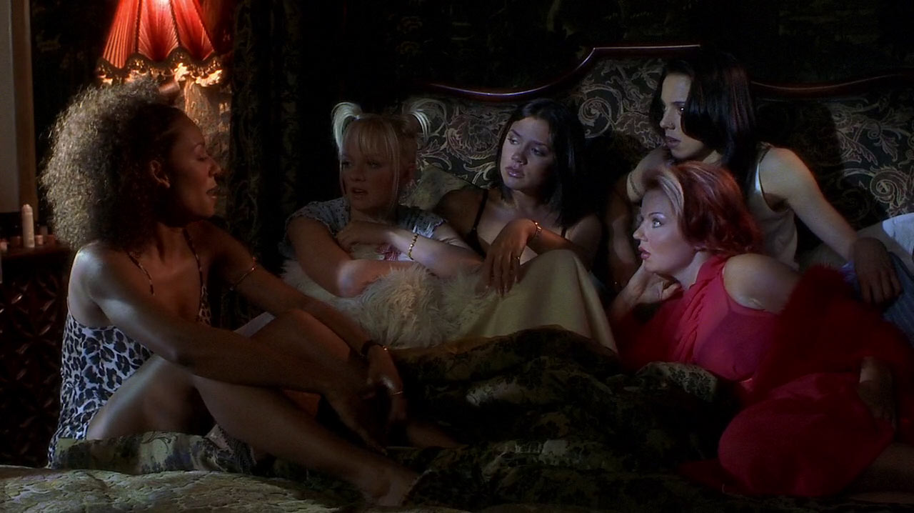 All the Spice Girls in one bed.