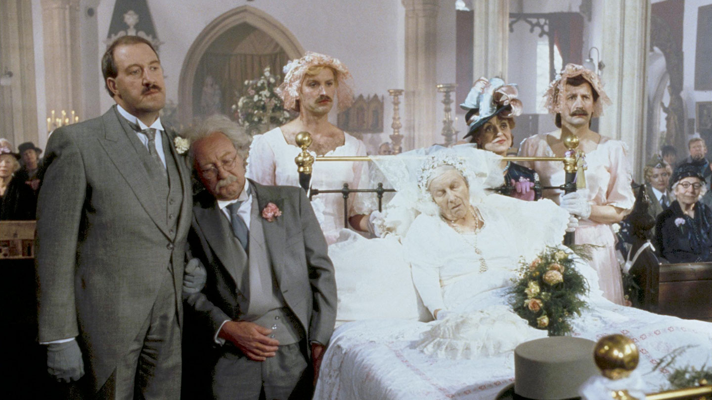 A wedding scene from 'Allo 'Allo!