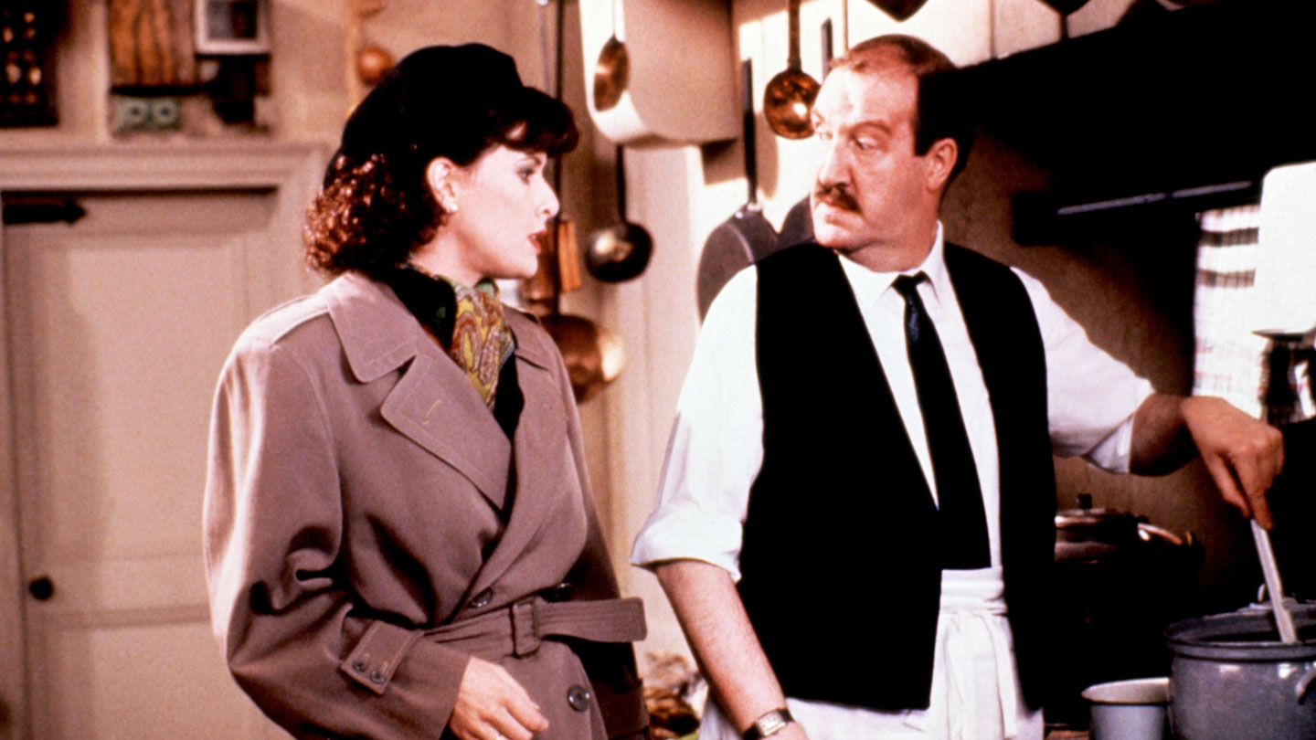 Kirsten Cooke and Gorden Kaye in 'Allo 'Allo!