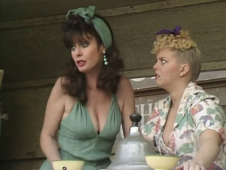 Vicky Michelle and Sue Hodge in 'Allo 'Allo!