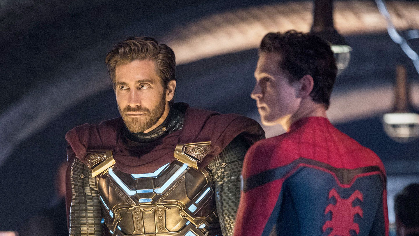 Jake Gyllenhaal and Tom Holland in Spider-man: Far from home